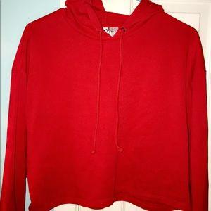 Red Crop Top Sweater